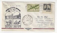 1947 New York FAM 27 Airmail FFC to Bombay India