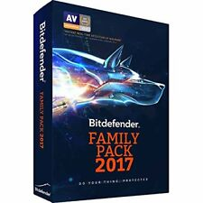 Bitdefender Internet Security Family Pack 2017-2018-2019 Unlimited Devices, Box