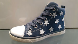 Lurchi Mid-Cut Sneaker Mädchen in blau aus Leder Gr 30