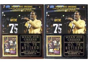 Joe Greene #75 Retired Pittsburgh Steelers 4-Time SB Champion Photo Plaque NFL