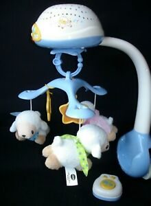 VTech Lullaby Lambs Baby Cot Mobile with Dangling Sheep Lights Sounds Music
