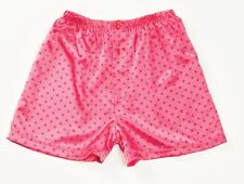 Pink Red Polka Dots Charmeuse Button Fly Boxer Shorts Small Gyz by Shirley 20298
