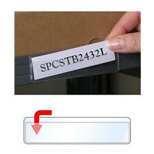 """StoreSMART Adhesive 1"""" x 4"""" Shelf Tag Holders 25-Pack Open Long - SPCSTB2432L-25"""