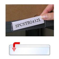 "StoreSMART Adhesive 1"" x 4"" Shelf Tag Holders 100Pk Open Long - SPCSTB2432L-100"