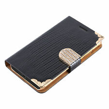 Patterned Wallet Cases with Clip for Apple Mobile Phones