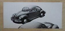 VOLKSWAGEN BEETLE orig 1958 USA Mkt Sales Leaflet Flier Brochure - VW