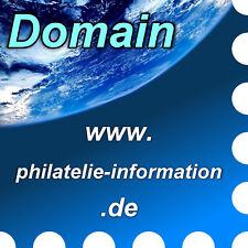 www.philatelie-information.de - Domain / Internet-Adresse / Web-Adresse / URL