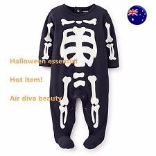 Baby Kid boy Halloween Skull Skeleton Carter's Party Costume Romper Bodysuit