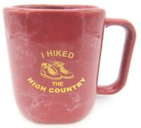 I Hiked the High Country Brick Red Marble look Coffee Tea Cup Mug Hiking Boots