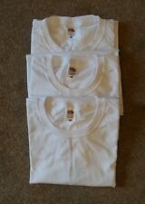 Set of Two BNWOT White Long Sleeved T Shirt Tops Fruit of the Loom Mens Size M