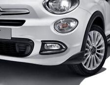 Fiat 500X Pair of Chrome Front Fog Light Surrounds Trims New Genuine 50927460
