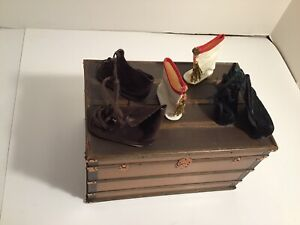 3 Pair Vintage Cloth Doll Boots