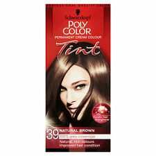SCHWARZKOPF POLY COLOR TINT NATURAL BROWN 39 CREAM COLOUR