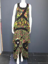 ANTONIO MARRAS for KENZO 100 % silk long dress NEW size 38 french