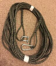 40 FT NEW 8MM ROPE GREEN  ANCHOR BOAT MOORING WITH SNAP HOOK & d shackle CAMMO