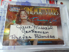 "Jane Russell auto SIGNED ""BLONDES"" DONRUSS CELEBRITY AMERICANA autograph CUTS"