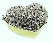 HEART TRINKET BOX,JULIANA TREASURED TRINKETS, ENCRUSTED, SPARKLING DIAMANTES