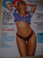 february 2013 GQ BEYONCE glossy cover + KATE UPTON Megan Fox 100 Sexiest Women