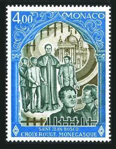 Monaco 1094, MNH. Michel 1300. Red Cross 1977. St. John Bosco and boys.