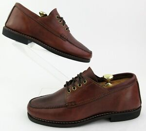 Orvis By Gokey Sauvage Oxfords Brown Leather 10EE Wide Width HandMade In USA
