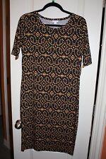 LuLaRoe - Julia Dress - Navy w/ geometric design - Size Large - NEW with tags
