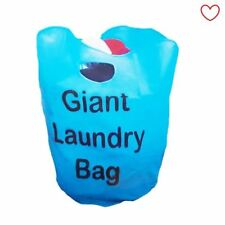 Giant Laundry Bag Washing Carry Bag Drying Basket Double Handles Blue