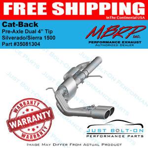 """MBRP 2009-2018 Silverado 1500 3"""" Cat Back Pre-Axle Dual 4"""" Tips PRO 304 S5081304"""
