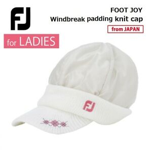 for LADIES 2019 Footjoy Golf Japan Windbreak padding Knit cap WH/NA onesize 19wn