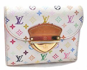 Auth Louis Vuitton Monogram Multicolor Portefeuille Koala Wallet White LV C4240