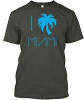 I Palm Tree Miami Design - Hanes Tagless Tee T-Shirt
