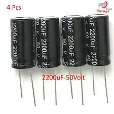 2200uF 50v Electrolytic Radial Lead Capacitor  (4Pieces) USA