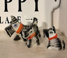 Terrier Dog Figurines Ceramic-Porcelain Hand Painted Made in Japan Set, Modern