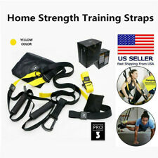 Home Gym Suspension Straps Resistance Strength Training Strap Workout Trainer