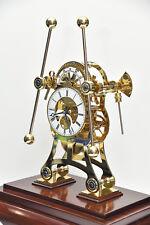 John Harrison Grasshopper Clock  Rare built in flying tourbillon Skeleton