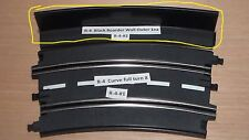 Artin 1/32 Curved Black Wall Boarder R-4 8ea. see circled track item in picture