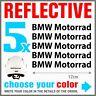 5x BMW Motorrad Black REFLECTIVE ADESIVI PEGATINA R1200 R1150 F800 F650 F700 GS