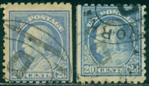 SCOTT # 438 USED, VERY GOOD, STRAIGHT-EDGE, 2 STAMPS, GREAT PRICE!