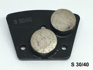 18pack: Double Round 2 Segments Diamond Grinding Polishing Pad Soft Bond 30 Grit