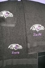 Ravens Football Personalized 3 Piece Bath Towel Set Your Team & Color Choice