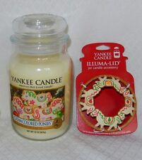 YANKEE CANDLE CREAM COLORED PONIE  - MY FAVORITE THINGS  LARGE JAR 22 OZ RETIRED