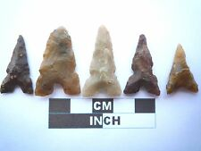 5 x puntas de flecha neolítica, Eiffel/puntos de Marruecos, Genuino - 4000BC (T047)