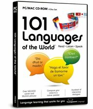 * Pc New Sealed Software * 101 Languages Of The World - Read Listen & Speak