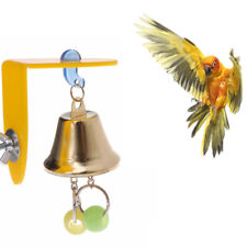 New listing Parrot bell toy bird playing chewing hanging cage accessories beaded parakeet