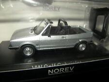 1:43 Norev VW Golf I Cabrio 1981 silver/silber Nr. 840073 OVP