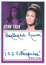 """BARBARA LUNA """"ENTERPRISE INSCRIPTION AUTOGRAPH"""" STAR TREK CAPTAINS COLLECTION"""