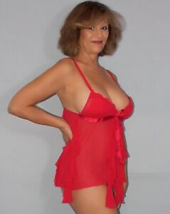 Women's Sheer Red Teddy by Victoria's Secret Size Small