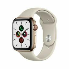 Apple Watch Series 5 GPS Cellular 44mm Gold Stainless Steel Case Stone...