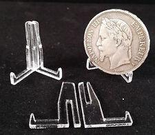 20 chevalets présentoirs en plexi pour monnaie