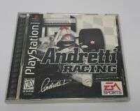 Andretti Racing Sony PS1 PlayStation 1 1996 Pre-owned Video Game Good F/S.  H