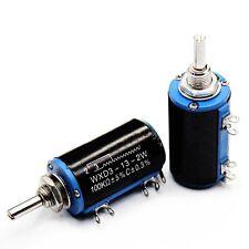 1pcs New WXD3-13-2W 100K ohm Rotary Multiturn Wirewound Potentiometer
